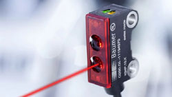Precise laser sensor for detection of very small objects to 0.05 mm