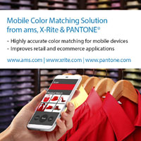 ams, X-Rite and PANTONE® to develop a mobile color sensing solution