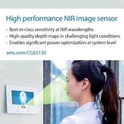 ams launches ultra-sensitive NIR image sensor promising large power savings in mobile 3D optical sensing systems