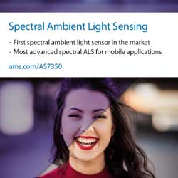 ams launches most advanced spectral ALS sensor for next-generation premium smartphone camera  performance boost