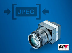 Achieve more with less: New GigE cameras with integrated JPEG image compression save bandwidth, CPU load and storage space