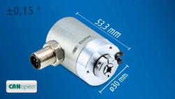 Smallest CANopen rotary encoder for medical technology and mobile automation