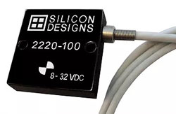 Compact, low-mass, single axis Model 2220 series MEMS accelerometer