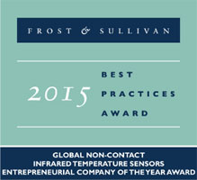 Exergen Global, the world's leading non-contact infrared sensor solution provider, named Frost & Sullivan 2015 Entrepreneurial company of the year