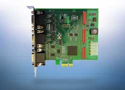 PCIe interface card for synchronous detection of four sensor signals