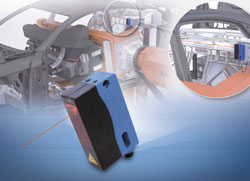 Laser distance sensors for precise robot positioning
