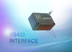 Compact laser sensor for industrial series applications