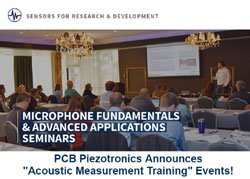 Series of Acoustic Measurement Training Events  Announced by PCB Piezotronics, Inc.