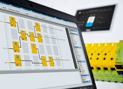 Configurable safe small control system PNOZmulti from Pilz new with application simulation - simulate the configuration now also offline!