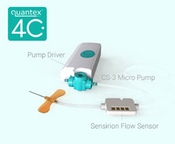 LD20 Liquid Flow Sensor Is Part of Quantex's 4C Wearable Drug Delivery IoT Platform