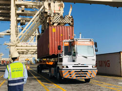 New autonomous vehicles to navigate their way around Middle East's largest seaport using georeferencing technology from Xsens